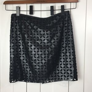 New Vince Camuto Cut Out Faux Leather Skirt SZ 8